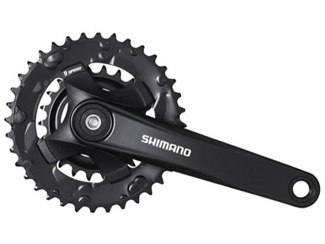 Shimano FC-MT101-B Pédalier 2x9 vitesses 36-22D, black